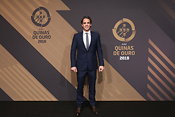 March 19, 2018 - Lisbon, Lisbon, Portugal - Nuno Gomes poses on arrival at 'Quinas de Ouro' 2018 ceremony held and the Pavilhao Carlos Lopes in Lisbon, on March 19, 2018. (Credit Image: © Dpi/NurPhoto via ZUMA Press)