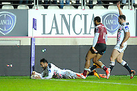 Essai de Krisnan Inu - 11.12.2014 - Stade Francais / Newcastle Falcons - European Rugby Challenge Cup<br />
