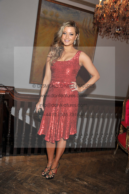HOLLY VALANCE at the 39th birthday party for Nick Candy in association with Ciroc Vodka held at 5 Cavindish Square, London on 21st Januatu 2012.