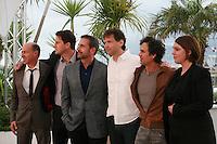 Jon Kilik, Channing Tatum, Steve Carell, Bennett Miller, Mark Ruffalo, Megan Ellison at the photo call for the film Foxcatcher at the 67th Cannes Film Festival, Monday 19th May 2014, Cannes, France.