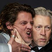 NLD/Amsterdam/20150126 - Premiere Michiel de Ruyter, Tygo Gernandt en Hajo Bruins