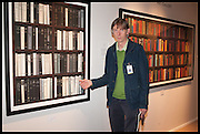 MATTHEW STURGISS at the preview of LAPADA Art and Antiques Fair. Berkeley Sq. London. 23 September 2014.