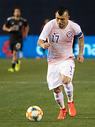 March 22, 2019 - Gary Medel (17) of Chile dribbles the ball during Mexico's 3-1 victory over Chile. (Credit Image: © Rishi Deka/ZUMA Wire)