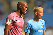 Calvin Andrew during the EFL Sky Bet League 1 match between Coventry City and Rochdale at the Ricoh Arena, Coventry, England on 1 September 2018.