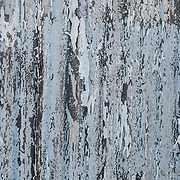 Corroded metal exterior wall of a tool shed in Rockport, MA