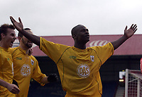 Picture: Henry Browne.<br /> Date: 26/12/2003.<br /> Brentford v Bristol City Nationwide League Division 2.<br /> Leroy Lita celebrates after scoring the winner for City.