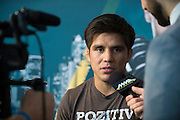 DALLAS, TX - MARCH 12:  Henry Cejudo speaks with the media during the UFC 185 Ultimate Media Day at the American Airlines Center on March 12, 2015 in Dallas, Texas. (Photo by Cooper Neill/Zuffa LLC/Zuffa LLC via Getty Images) *** Local Caption *** Henry Cejudo