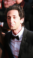 Adrien Brody and Lara Lieto at the Palme d'Or  Closing Awards Ceremony red carpet at the 67th Cannes Film Festival France. Saturday 24th May 2014 in Cannes Film Festival, France.