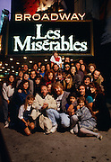 Les Miserables Cast in New York City, 1989.