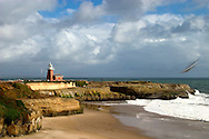 Santa Cruz Lighthouse, windy day