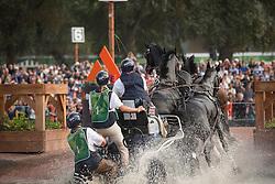 Boyd Exell, (AUS), Capone II, Curios, Rambo 395, Spitfire, Winston - Driving Marathon - Alltech FEI World Equestrian Games™ 2014 - Normandy, France.<br /> © Hippo Foto Team - Dirk Caremans<br /> 06/09/14