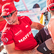Leg 01, Alicante, In-Port race on board MAPFRE. Photo by Ugo Fonolla/Volvo Ocean Race. 14 October, 2017