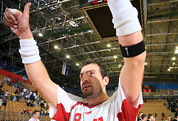 Daniel Valo of Slovakia after  handball game between men national teams of Slovenia and Slovakia, first qualification game for the World Chamionship 2009, on June 7, 2008, in Arena Zlatorog, Celje, Slovenija. Result: 33 : 33. (Photo by Vid Ponikvar / Sportal Images)