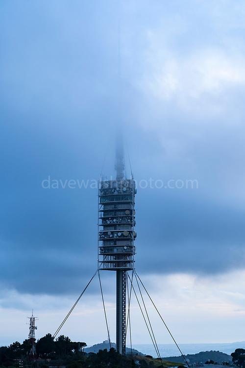 Norman Foster designed Torre de Collserola Communications Tower, Tibidabo, Barcelona, Spain