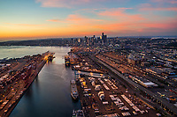 Port of Seattle @ Sunset