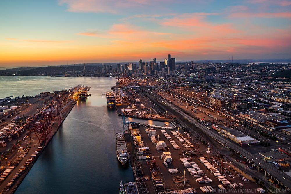 Port of Seattle @ Sunset