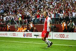 June 10, 2019 - Warsaw, Poland - Poland's forward Kamil Grosicki celebrate scoring during the UEFA Euro 2020 qualifier Group G football match Poland against Israel on June 10, 2019 in Warsaw, Poland. (Credit Image: © Foto Olimpik/NurPhoto via ZUMA Press)