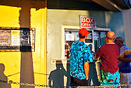 Concert goers at the box office before a performance of the Jerry Garcia band in Fort Lauderdale, Florida. WATERMARKS WILL NOT APPEAR ON PRINTS OR LICENSED IMAGES.