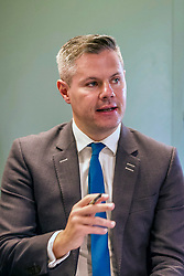 Finance and Economy Secretary Derek Mackay at today's launch of a new productivity index. Pic: Terry Murden @edinburghelitemedia