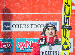 02.02.2019, Heini Klopfer Skiflugschanze, Oberstdorf, GER, FIS Weltcup Skiflug, Oberstdorf, Siegerehrung, im Bild Sieger Kamil Stoch (POL) // Winner Kamil Stoch (POL) during the Winners Award Ceremony of FIS Ski Jumping World Cup at the Heini Klopfer Skiflugschanze in Oberstdorf, Germany on 2019/02/02. EXPA Pictures © 2019, PhotoCredit: EXPA/ JFK