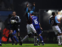Photo: Tony Oudot/Sportsbeat Images.<br /> West Ham United v Everton. Carling Cup. 12/12/2007.<br /> Carlton Cole of West Ham is dejected after missing a chance