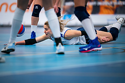 Kirsten Knip of Sliedrecht in action in the first league match during the corona lockdown between Talentteam Papendal vs. Sliedrecht Sport on January 09, 2021 in Ede.