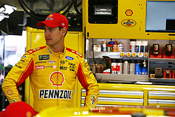 September 22, 2017 - Loudon, New Hampshire, United States of America - September 22, 2017 - Loudon, New Hampshire, USA: Joey Logano (22) hangs out in the garage during practice for the ISM Connect 300 at New Hampshire Motor Speedway in Loudon, New Hampshire. (Credit Image: © Justin R. Noe Asp Inc/ASP via ZUMA Wire)