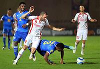 Fotball<br /> Afrika Cup / Afrikamesterskapet<br /> 18.01.2015<br /> Tunisia v Kapp Verde<br /> Foto: Panoramic/Digitalsport<br /> NORWAY ONLY<br /> <br /> Yassine Chikhaoui (TUN) vs Fernando Varela (CAP)