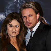 NLD/Amsterdam/20150211 - Premiere Fifty Shades of Grey, Laura Vlasblom en partner Michel Veenman