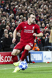 October 24, 2018 - Liverpool, United Kingdom - Liverpool midfielder Xherdan Shaqiri (23) in action during the Uefa Champions League Group Stage football match n.3  Liverpool v FK Crvena Zvezda on October 24, 2018, at the Anfield Road in Liverpool, England. (Credit Image: © Matteo Bottanelli/NurPhoto via ZUMA Press)