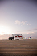 Camper truck on beach at South Core banks