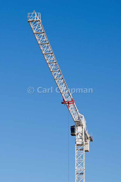 Construction Crane on building site <br /> <br /> Editions:- Open Edition Print / Stock Image