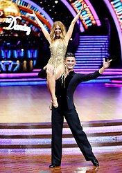 Stacey Dooley and Aljaz Skorjanec pose for photographers during a photocall before the opening night of the Strictly Come Dancing Tour 2019 at the Arena Birmingham, in Birmingham. Picture date: Thursday January 17, 2019. Photo credit should read: Aaron Chown/PA Wire