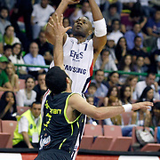 Efes Pilsen's Charles SMITH (B) during their Turkish Basketball league Play Off Final first leg match Efes Pilsen between Fenerbahce Ulker at the Ayhan Sahenk Arena in Istanbul Turkey on Thursday 20 May 2010. Photo by Aykut AKICI/TURKPIX