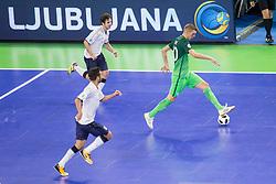 Alen Fetic of Slovenia during futsal match between National teams of Slovenia and Italy at Day 5 of UEFA Futsal EURO 2018, on February 3, 2018 in Arena Stozice, Ljubljana, Slovenia. Photo by Urban Urbanc / Sportida