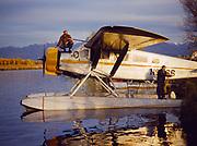 Rob Everts' 1929 metalized Travelaire, Lake Hood, Anchorage, Alaska.