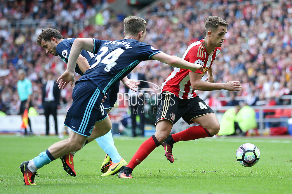 Sunderland  midfielder, on loan from Manchester United, Adnan Januzaj (44)  during the Premier League match between Sunderland and Middlesbrough at the Stadium Of Light, Sunderland, England on 21 August 2016. Photo by Simon Davies.