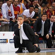 Galatasaray's coach Oktay MAHMUTI during their Turkish Basketball league Play Off Final third leg match Galatasaray between Fenerbahce Ulker at the Abdi Ipekci Arena in Istanbul Turkey on Thursday 09 June 2011. Photo by TURKPIX