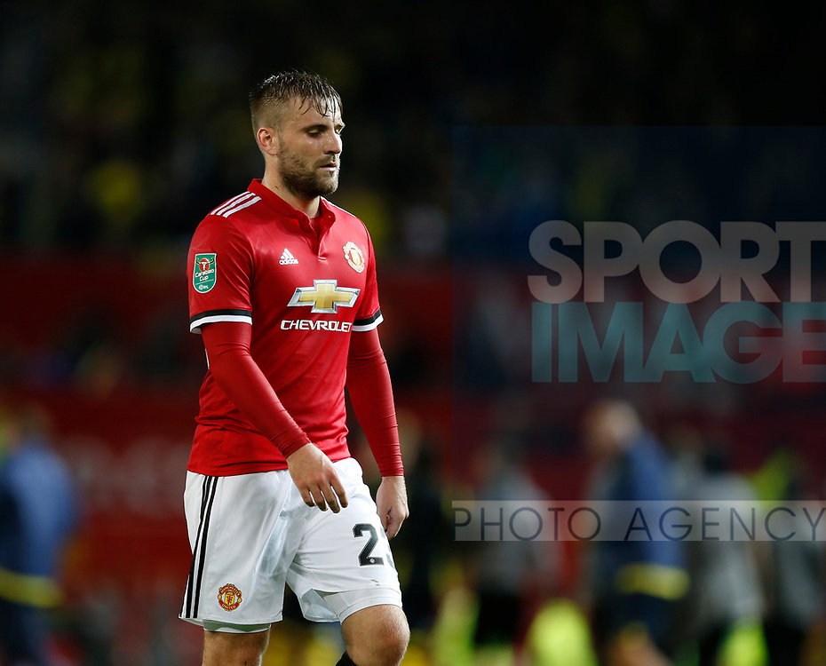 Luke Shaw of Manchester United during the Carabao Cup Third Round match at the Old Trafford Stadium, Manchester. Picture date 20th September 2017. Picture credit should read: Simon Bellis/Sportimage