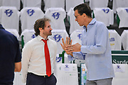 DESCRIZIONE : Campionato 2014/15 Serie A Beko Dinamo Banco di Sardegna Sassari - Grissin Bon Reggio Emilia Finale Playoff Gara6<br /> GIOCATORE : Pietro Colnago Devis Cagnardi<br /> CATEGORIA : Fair Play Before Pregame<br /> SQUADRA : Grissin Bon Reggio Emilia<br /> EVENTO : LegaBasket Serie A Beko 2014/2015<br /> GARA : Dinamo Banco di Sardegna Sassari - Grissin Bon Reggio Emilia Finale Playoff Gara6<br /> DATA : 24/06/2015<br /> SPORT : Pallacanestro <br /> AUTORE : Agenzia Ciamillo-Castoria/C.Atzori