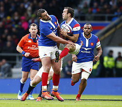 February 10, 2019 - London, England, United Kingdom - L- Louis Picamoles of France and Morgan Parra of France..during the Guiness 6 Nations Rugby match between England and France at Twickenham  Stadium on February 10th,  in Twickenham, London, England. (Credit Image: © Action Foto Sport/NurPhoto via ZUMA Press)