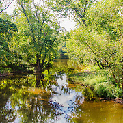 A view of one of the streams conencting the Raritan River and the D&R Canal in Hillsborough, NJ.