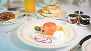 Breakfast in the Britannia Club on board Cunard's Queen Victoria.<br /> Picture date: Sunday June 4, 2017.<br /> Photograph by Christopher Ison ©<br /> 07544044177<br /> chris@christopherison.com<br /> www.christopherison.com