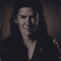 Chloe Chow, tintype portrait made with wetplate collodion process.