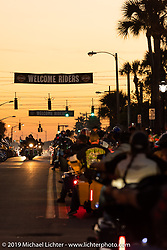 Main Street during Daytona Bike Week. Daytona Beach, FL. USA. Saturday March 17, 2018. Photography ©2018 Michael Lichter.