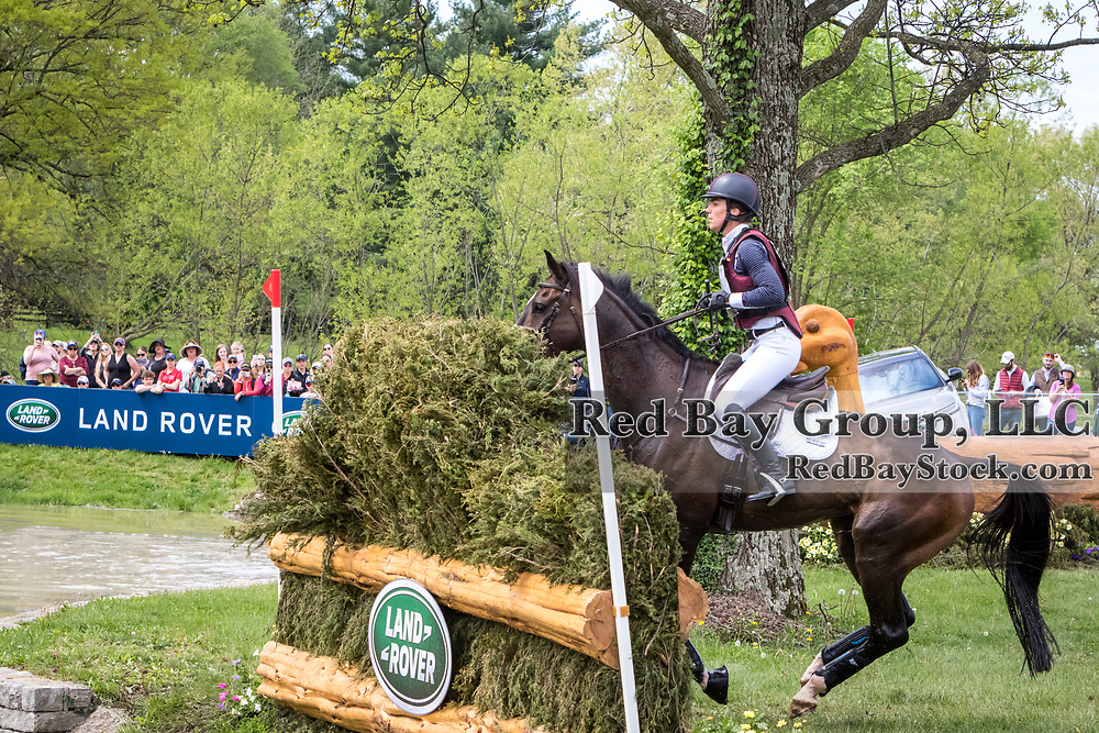 Ariel Grald (USA) and Leamore Master Plan during the cross-country at the 2019 Land Rover Kentucky Three-Day Event presented by MARS EQUESTRIAN in Lexington, Kentucky