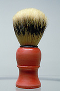 shaving brush with gray background