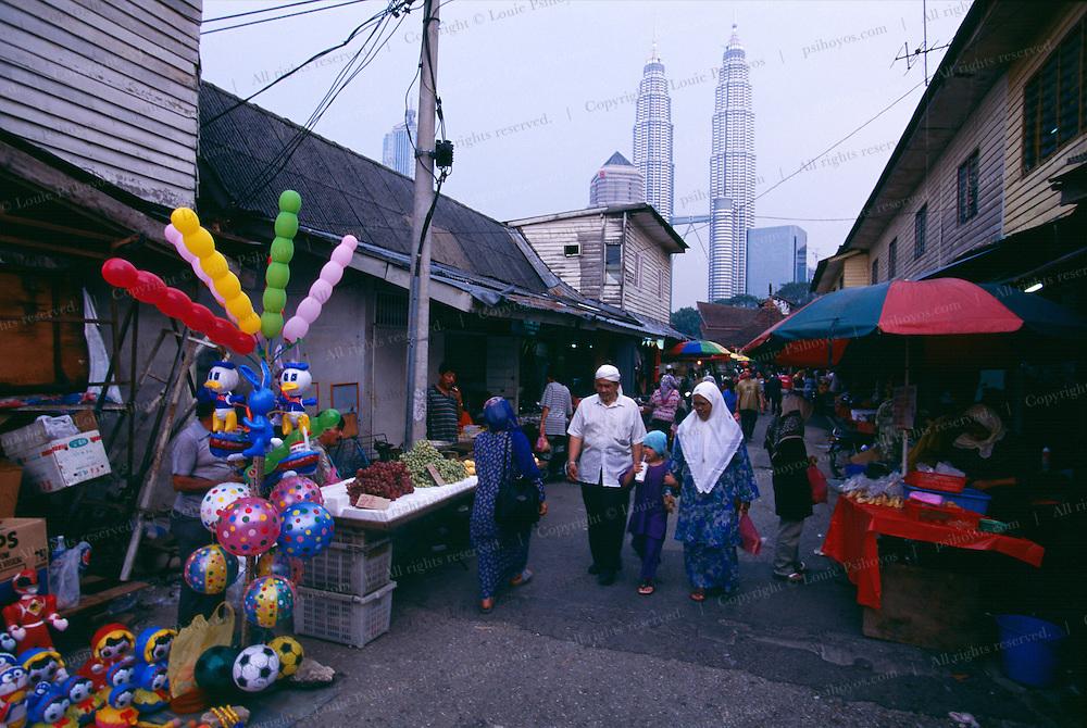 Shopping District in Kuala Lumpur near the Petronas Towers.