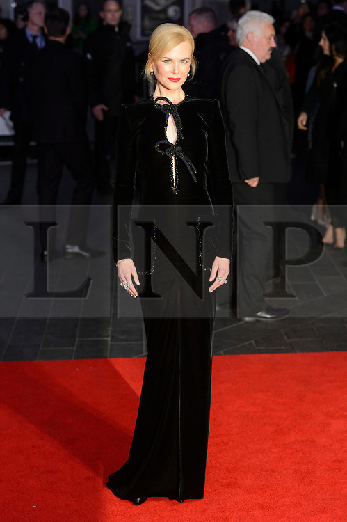 © Licensed to London News Pictures. 12/10/2016. Actress NICOLE KIDMAN attends the film premiere of LION as part of The London Film FestivalLondon, UK. Photo credit: Ray Tang/LNP
