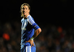 LONDON, ENGLAND - Wednesday, October 19, 2011: Chelsea's Fernando Torres looks on during the UEFA Champions League Group E match at Stamford Bridge. (Photo by Chris Brunskill/Propaganda)